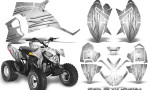 Polaris Outlaw 90 Graphics Kit Cold Fusion White 150x90 - Polaris Outlaw 90/110 2002-2016 Graphics