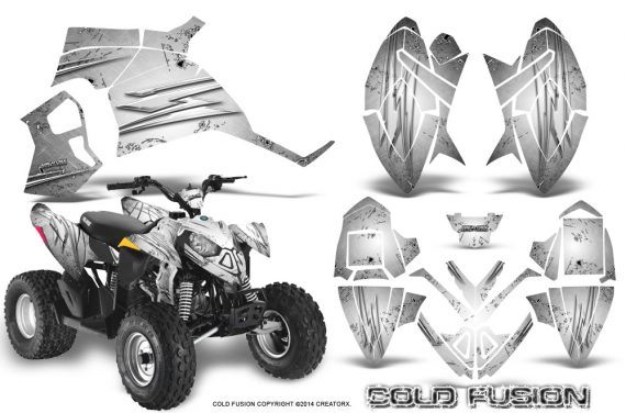 Polaris Outlaw 90 Graphics Kit Cold Fusion White 570x376 - Polaris Outlaw 90/110 2002-2016 Graphics