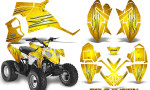 Polaris Outlaw 90 Graphics Kit Cold Fusion Yellow 150x90 - Polaris Outlaw 90/110 2002-2016 Graphics