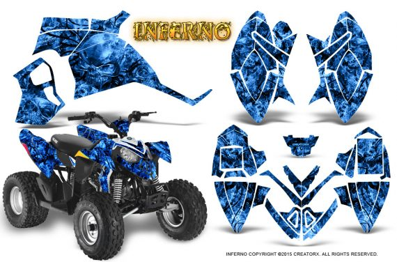 Polaris Outlaw 90 Graphics Kit Inferno Blue 570x376 - Polaris Outlaw 90/110 2002-2016 Graphics