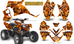 Polaris Outlaw 90 Graphics Kit Inferno Orange 150x90 - Polaris Outlaw 90/110 2002-2016 Graphics