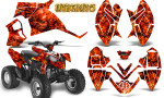 Polaris Outlaw 90 Graphics Kit Inferno Red 150x90 - Polaris Outlaw 90/110 2002-2016 Graphics