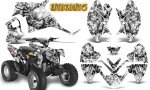 Polaris Outlaw 90 Graphics Kit Inferno White 150x90 - Polaris Outlaw 90/110 2002-2016 Graphics