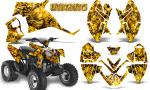 Polaris Outlaw 90 Graphics Kit Inferno Yellow 150x90 - Polaris Outlaw 90/110 2002-2016 Graphics