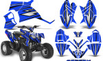 Polaris Outlaw 90 Graphics Kit SpeedX Black Blue 150x90 - Polaris Outlaw 90/110 2002-2016 Graphics
