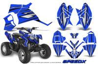Polaris-Outlaw-90-Graphics-Kit-SpeedX-Black-Blue
