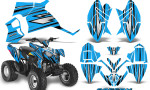 Polaris Outlaw 90 Graphics Kit SpeedX Black BlueIce 150x90 - Polaris Outlaw 90/110 2002-2016 Graphics