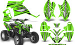 Polaris Outlaw 90 Graphics Kit SpeedX Black Green 150x90 - Polaris Outlaw 90/110 2002-2016 Graphics