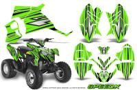 Polaris-Outlaw-90-Graphics-Kit-SpeedX-Black-Green