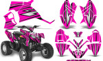 Polaris Outlaw 90 Graphics Kit SpeedX Black Pink 150x90 - Polaris Outlaw 90/110 2002-2016 Graphics