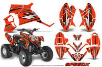Polaris-Outlaw-90-Graphics-Kit-SpeedX-Black-Red