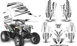 Polaris Outlaw 90 Graphics Kit SpeedX Black White 150x90 - Polaris Outlaw 90/110 2002-2016 Graphics