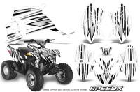 Polaris-Outlaw-90-Graphics-Kit-SpeedX-Black-White
