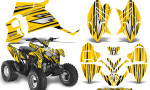Polaris Outlaw 90 Graphics Kit SpeedX Black Yellow 150x90 - Polaris Outlaw 90/110 2002-2016 Graphics