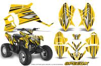 Polaris-Outlaw-90-Graphics-Kit-SpeedX-Black-Yellow