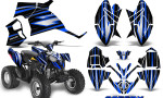 Polaris Outlaw 90 Graphics Kit SpeedX Blue Black 150x90 - Polaris Outlaw 90/110 2002-2016 Graphics