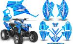 Polaris Outlaw 90 Graphics Kit SpeedX Blue BlueIce 150x90 - Polaris Outlaw 90/110 2002-2016 Graphics