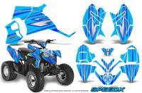 Polaris-Outlaw-90-Graphics-Kit-SpeedX-Blue-BlueIce