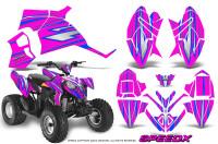 Polaris-Outlaw-90-Graphics-Kit-SpeedX-Blue-Pink