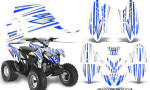 Polaris Outlaw 90 Graphics Kit SpeedX Blue White 150x90 - Polaris Outlaw 90/110 2002-2016 Graphics