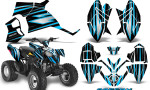 Polaris Outlaw 90 Graphics Kit SpeedX BlueIce Black 150x90 - Polaris Outlaw 90/110 2002-2016 Graphics