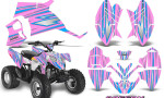 Polaris Outlaw 90 Graphics Kit SpeedX BlueIce PinkLite 150x90 - Polaris Outlaw 90/110 2002-2016 Graphics