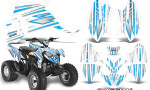 Polaris Outlaw 90 Graphics Kit SpeedX BlueIce White 150x90 - Polaris Outlaw 90/110 2002-2016 Graphics