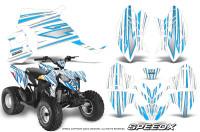 Polaris-Outlaw-90-Graphics-Kit-SpeedX-BlueIce-White