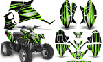 Polaris Outlaw 90 Graphics Kit SpeedX Green Black 150x90 - Polaris Outlaw 90/110 2002-2016 Graphics