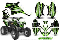 Polaris-Outlaw-90-Graphics-Kit-SpeedX-Green-Black