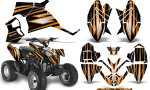 Polaris Outlaw 90 Graphics Kit SpeedX Orange Black 150x90 - Polaris Outlaw 90/110 2002-2016 Graphics