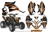 Polaris-Outlaw-90-Graphics-Kit-SpeedX-Orange-Black