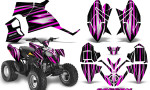 Polaris Outlaw 90 Graphics Kit SpeedX Pink Black 150x90 - Polaris Outlaw 90/110 2002-2016 Graphics