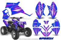 Polaris-Outlaw-90-Graphics-Kit-SpeedX-Pink-Blue
