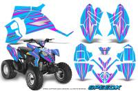 Polaris-Outlaw-90-Graphics-Kit-SpeedX-Pink-BlueIce