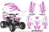Polaris-Outlaw-90-Graphics-Kit-SpeedX-Pink-White