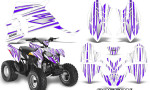 Polaris Outlaw 90 Graphics Kit SpeedX Purple White 150x90 - Polaris Outlaw 90/110 2002-2016 Graphics