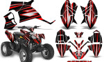 Polaris Outlaw 90 Graphics Kit SpeedX Red Black 150x90 - Polaris Outlaw 90/110 2002-2016 Graphics