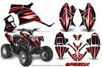 Polaris-Outlaw-90-Graphics-Kit-SpeedX-Red-Black