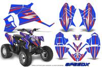 Polaris-Outlaw-90-Graphics-Kit-SpeedX-Red-Blue