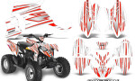 Polaris Outlaw 90 Graphics Kit SpeedX Red White 150x90 - Polaris Outlaw 90/110 2002-2016 Graphics