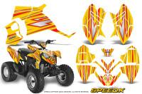 Polaris-Outlaw-90-Graphics-Kit-SpeedX-Red-Yellow