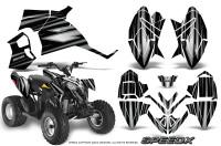 Polaris-Outlaw-90-Graphics-Kit-SpeedX-Silver-Black