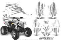 Polaris-Outlaw-90-Graphics-Kit-SpeedX-Silver-White