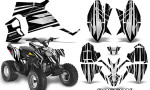 Polaris Outlaw 90 Graphics Kit SpeedX White Black 150x90 - Polaris Outlaw 90/110 2002-2016 Graphics