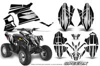 Polaris-Outlaw-90-Graphics-Kit-SpeedX-White-Black