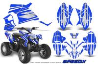 Polaris-Outlaw-90-Graphics-Kit-SpeedX-White-Blue