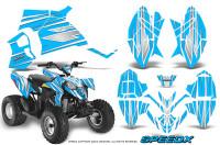 Polaris-Outlaw-90-Graphics-Kit-SpeedX-White-BlueIce