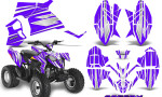 Polaris Outlaw 90 Graphics Kit SpeedX White Purple 150x90 - Polaris Outlaw 90/110 2002-2016 Graphics