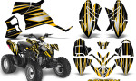 Polaris Outlaw 90 Graphics Kit SpeedX Yellow Black 150x90 - Polaris Outlaw 90/110 2002-2016 Graphics